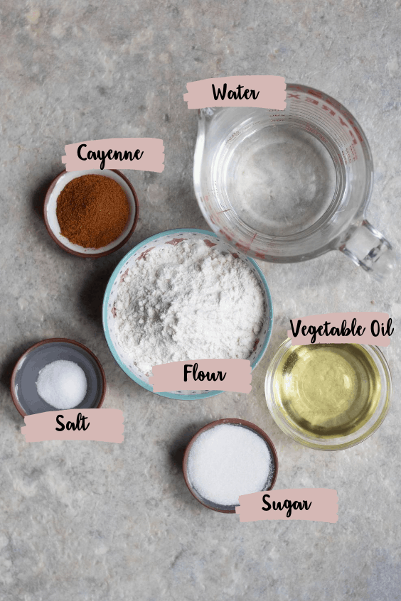 Ingredients to make this recipe with labels