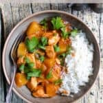 Easy Summer Recipe Pineapple Chicken Pinterest Image top clear banner