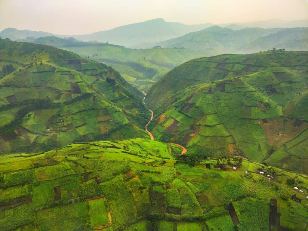 Grassy Hills in the Congo
