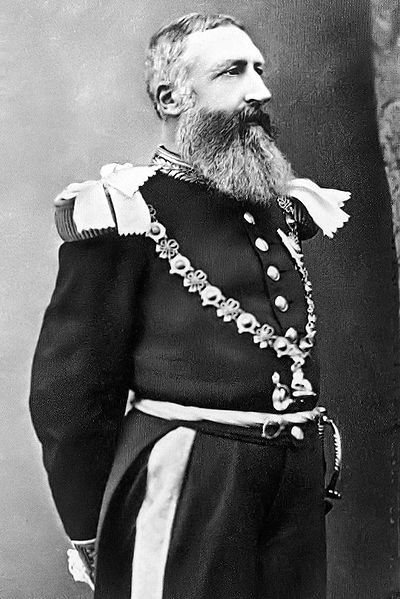 Black and white photo of King Leopold