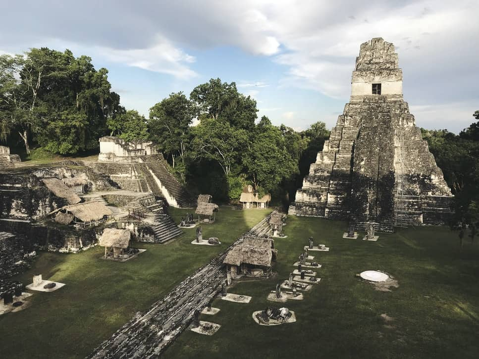 Ancient Mayan Ruins, including a large temple