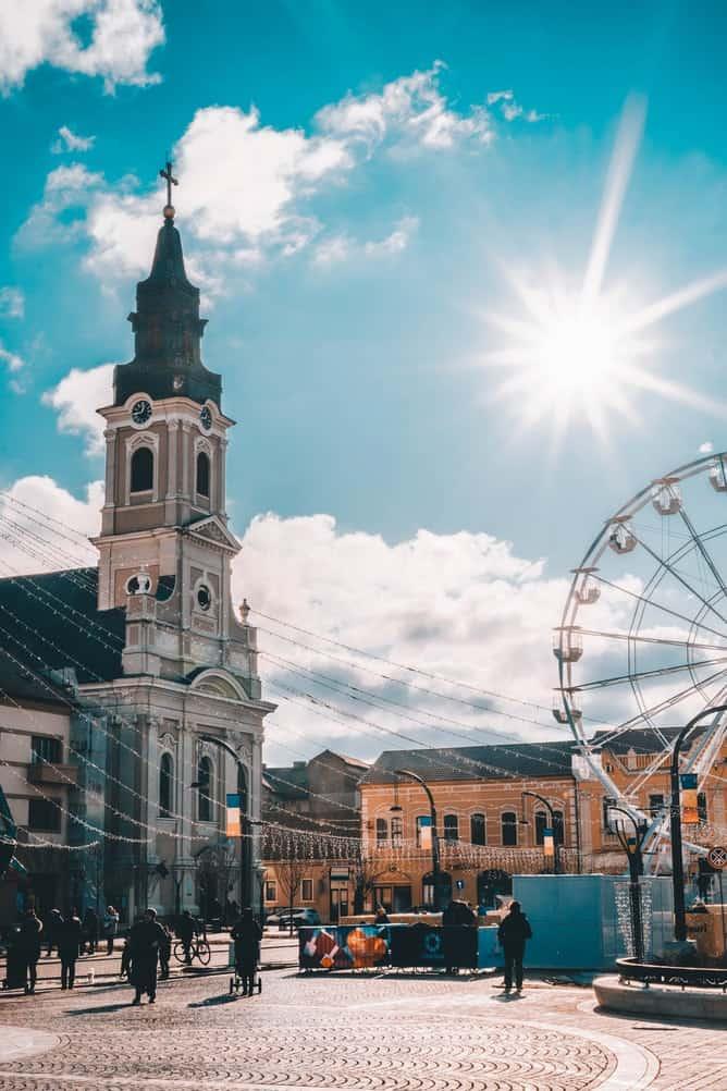 Ferris wheel in Romania