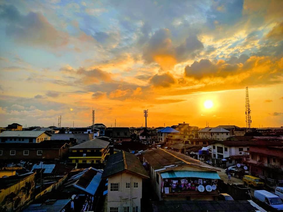 Sunset over Lagos