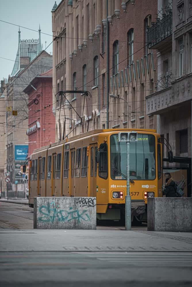A tram in Hungary