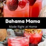 Homemade Bahama Mama pinterest image middle black banner