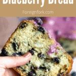 Blueberry Bread Pinterest Image