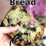 Easter Blueberry Bread Pinterest Image top outlined title