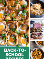 Back to School Recipes Pinterest Image