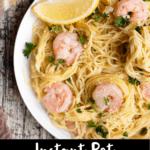 Shrimp Scampi Pinterest Image Bottom Black Banner