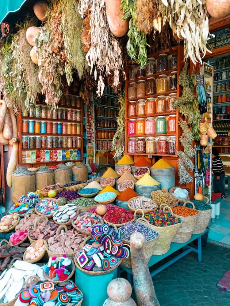 A spice stand in Morocco