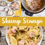 Instant Pot Shrimp Scampi Pinterest Image Middle Banner