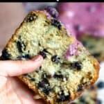 Easter Blueberry Bread Pinterest Image top black banner
