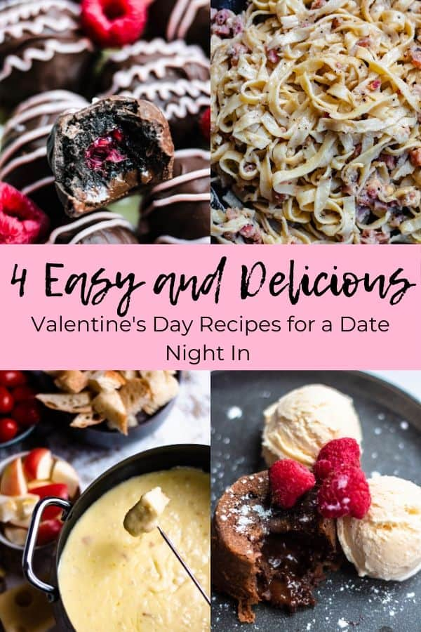 Pinterest Image for Four Easy Valentines Day Recipes