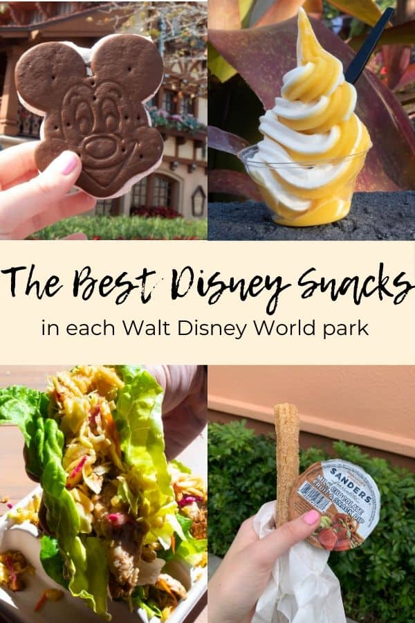 Pinterest Image for the top disney snacks to eat in each park