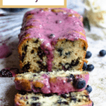 Back to school blueberry bread pinterest image corner banner