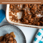 Easy Bread Pudding Pinterest Image Top Brown Banner
