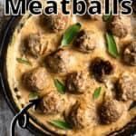 Summertime Danish Meatballs Pinterest Image top outlined title