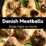 Homemade Danish Meatballs Pinterest Image middle black banner