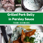 Grilled Pork Belly In Parsley Sauce From Denmark Middle Green banner