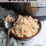 Instant Pot Brown Rice Top Clear Banner