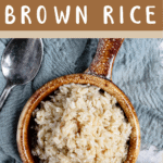Instant Pot Brown Rice Brown Banner