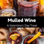 Valentine's Day Mulled Wine Pinterest Image middle black banner