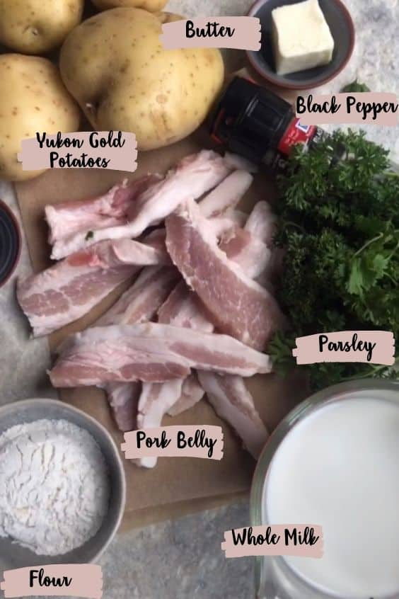 Stegt Flaesk Ingredients Photo