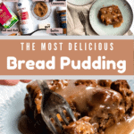 Easy Bread Pudding Pinterest Image Middle Brown banner