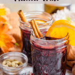 Valentine's Day Mulled Wine Pinterest Image top striped banner