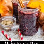 Valentine's Day Mulled Wine Pinterest Image bottom black banner