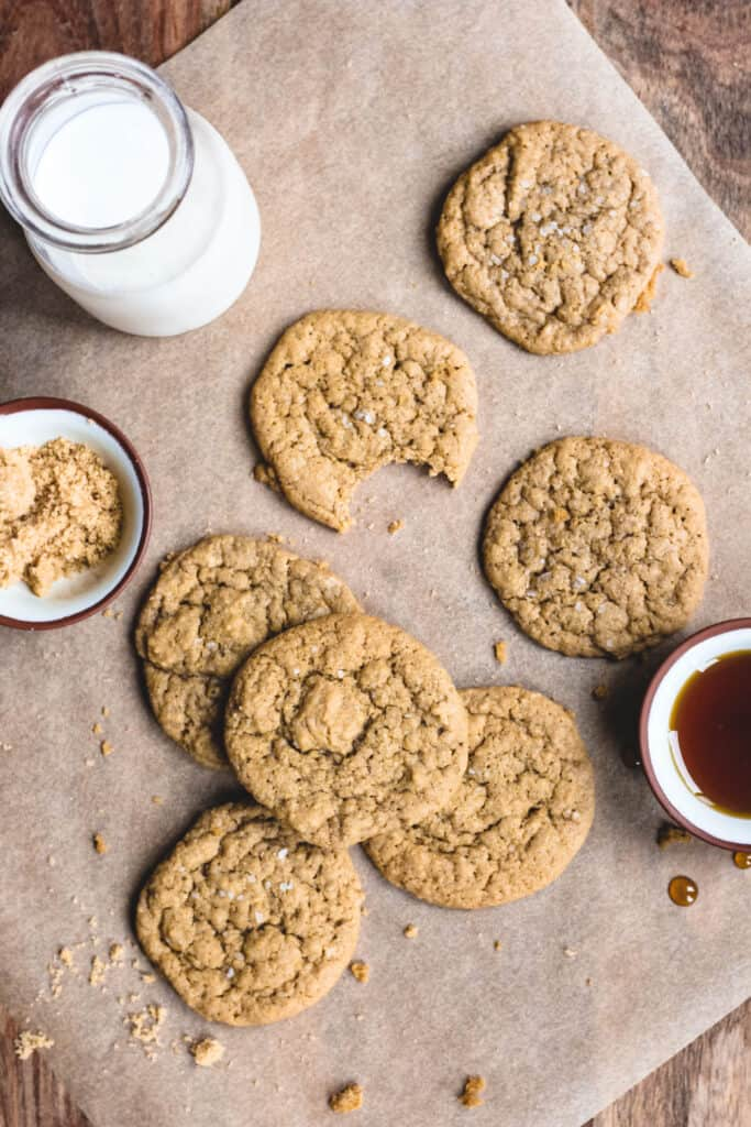 cookies with brown sugar and maple syrup