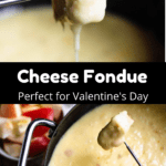Valentine's Day Cheese Fondue Pinterest Image Middle Black Banner