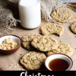 Christmas Maple Cookies Pinterest Image Bottom Black Banner