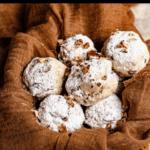 Christmas Snowball Cookies Pinterest Image Top Black Banner