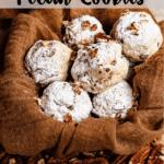 Christmas Snowball Cookies Pinterest Image Top Banner