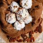 Christmas Snowball Cookies Pinterest Image Bottom Banner