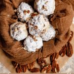 Christmas Snowball Cookies Pinterest Image Bottom Banner
