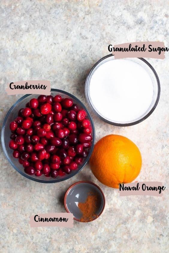 Ingredient photo for Cranberry Sauce with Orange Juice