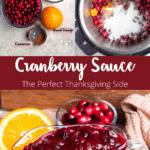 Instant Pot Cranberry Sauce Pinterest Image Middle Banner