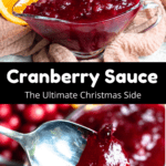 Christmas Cranberry Sauce Middle Black Banner