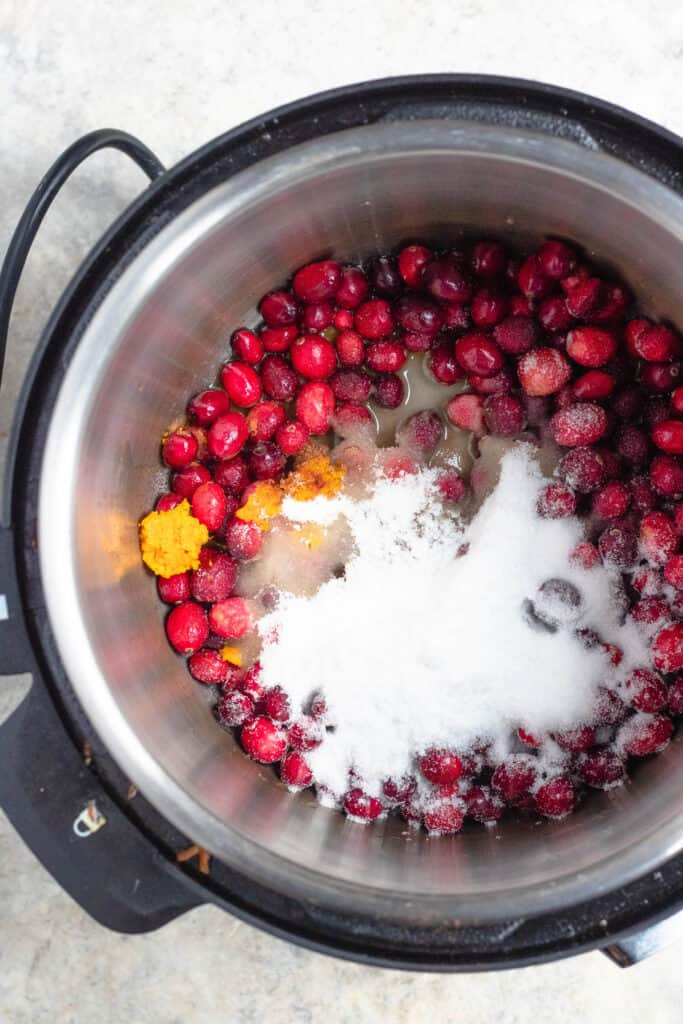 All ingredients added into the Instant Pot