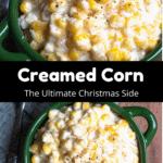 Christmas Creamed Corn Pinterest Image Middle Black Banner
