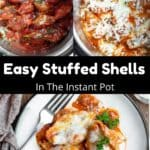 Easy Stuffed Shells in the Instant Pot Pinterest Image middle black banner