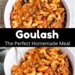Homemade Goulash Pinterest Image middle black banner