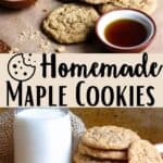 Homemade Maple Cookies Pinterest Image middle design banner