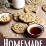 Homemade Maple Cookies Pinterest Image bottom design banner