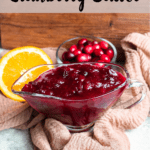 Instant Pot Cranberry Sauce Pinterest Image Top Clear banner