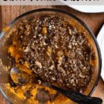 Instant Pot Sweet Potato Casserole Pinterest Image Top Clear Banner
