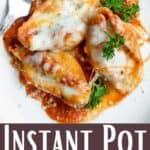 Instant Pot Stuffed Shells Pinterest Image bottom design banner