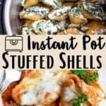 Instant Pot Stuffed Shells Pinterest Image middle design banner